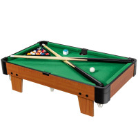 """24"""" Mini Tabletop Pool Table Set Indoor Billiards Table with Accessories"""