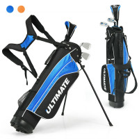 """Set of 5 Ultimate 31"""" Portable Junior Complete Golf Club Set for Kids Age 8+"""
