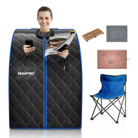 Portable Personal Far Infrared Sauna with Heating Foot Pad and Chair