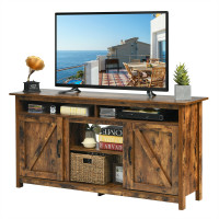 """60""""Industrial TV Stand Entertainment Center with Shelve and Cabinet"""