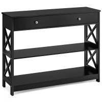 Console Accent Table with Drawer and Shelves