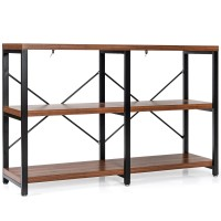 """3 Tier 47"""" Console Metal Frame Sofa Table"""