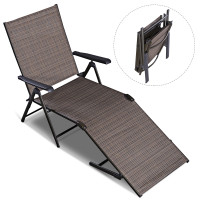 Adjustable outdoor patio pool chaise lounge