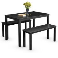 3 Pieces Modern Studio Collection Table Dining Set