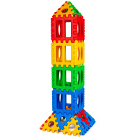 32 Pieces Big Waffle Block Set Kids Educational Stacking Building Toy