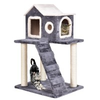 """36"""" Tower Condo Scratching Posts Ladder Cat Tree"""