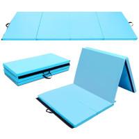 "4' x 8' x 2"" Gymnastics Mat Thick Folding Panel Aerobics Exercise Mat"