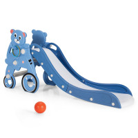 4 in 1 Foldable Baby Slide Toddler Climber Slide PlaySet with Ball