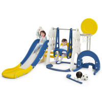 6 in 1 Slide and Swing Set with Ball Games for Toddlers
