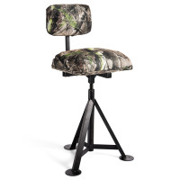 Swivel Hunting Chair Tripod Blind Stool with Detachable Backrest