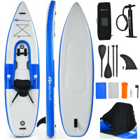 Inflatable Kayak Includes Aluminum Paddle with Hand Pump for 1 Person