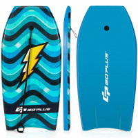 Lightweight Bodyboard with Wrist Leash for Kids and Adults