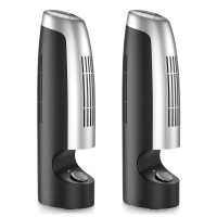 2 Pcs Mini Ionic Whisper Home Air Purifier and Air Cleaner for Dust and Smoke