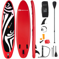 Inflatable Stand up Adjustable Fin Paddle Surfboard with Bag