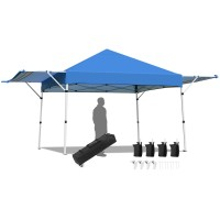 17 Feet x 10 Feet Foldable Pop Up Canopy with Adjustable Instant Sun Shelter