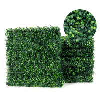 12 Pieces Artificial Boxwood Panels for Wedding Decor Fence Backdrop