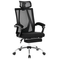 Ergonomic Recliner Mesh Office Chair with Adjustable Footrest