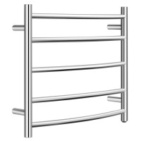 Electric Heated Towel Warmer Wall Mount Drying Rack 304 Stainless Steel