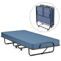 Rollaway Guest Bed with Sturdy Steel Frame and Wheels