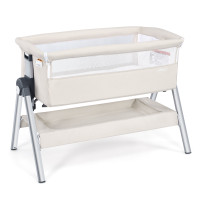 Portable Baby Bedside Sleeper with Adjustable Heights and Angle