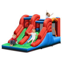 3-in-1 Dual Slides Jumping Castle Bouncer without Blower