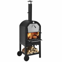 Portable Outdoor Pizza Oven with Pizza Stone and Waterproof Cover