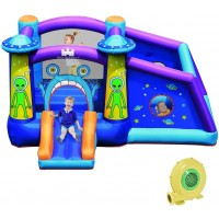 Indoor Outdoor Inflatable Alien Style Kids Bouncy Castle with 480W Air Blower