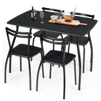 5 Pcs Dining Table Set with 4 Chairs
