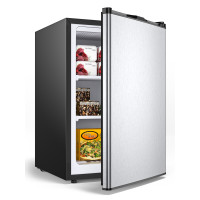 3 cu.ft. Compact Upright Freezer with Stainless Steel Door