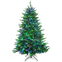 Pre-lit Artificial Hinged Christmas Tree with APP Controlled LED Lights