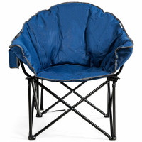 Folding Camping Moon Padded Chair with Carry Bag