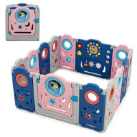 Foldable Kids Safety Play Center with Lockable Gate