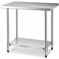 24Inch x 36Inch Stainless Steel Commercial Kitchen Food Prep Table