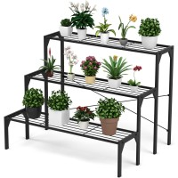 3 Tier Outdoor Metal Heavy Duty Modern for Multiple Plant Display Stand Rack