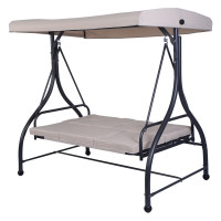 3 Seats Converting Outdoor Swing Canopy Hammock with Adjustable Tilt Canopy