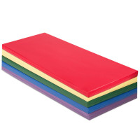 5 Pack 2 Inch Toddler Thick Rainbow Rest Nap Mats