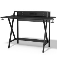 All-in-One Professional Gaming Desk with Cup and Headphone Holder