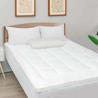 Mattress Pad Cover Padded Topper Soft Quilted Fitted Deep Pocket