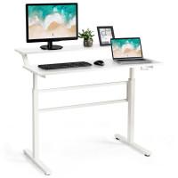 Standing Desk Crank Adjustable Sit to Stand Workstation