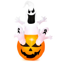 6 Feet Pumpkin-Halloween Blow Up Yard Decorations with Build-in LED Light