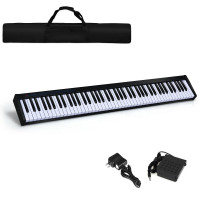 88 Key Digital Piano MIDI Keyboard with Pedal & Bag