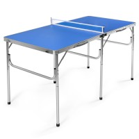 60 Inches Portable Tennis Ping Pong Folding Table with Accessories