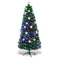 4' / 5' / 6' LED Optic Artificial Christmas Tree with Snowflakes