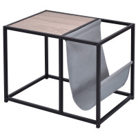 End Table Side Accent Metal Magazine Organizer