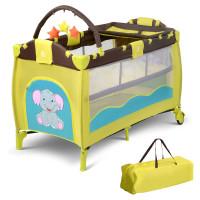 Nursery Center Playyard Baby Crib Set Portable Nest Bed
