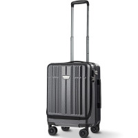 Front Pocket Luggage Business Trolley Suitcase withTSA Locks