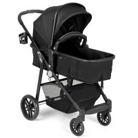 2-in-1 Foldable Pushchair Newborn Infant Baby Stroller