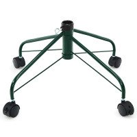 Metal Christmas Tree Stand with Rolling Wheels For Tree Up to 7/9 Ft Tall