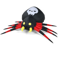 6.5 Feet Inflatable Halloween Spider with Rotatable LED Light