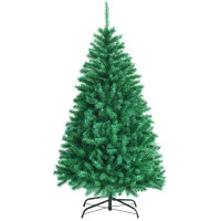 6 Feet Green Iridescent Tinsel Artificial Christmas Tree with 736 Branch Tips